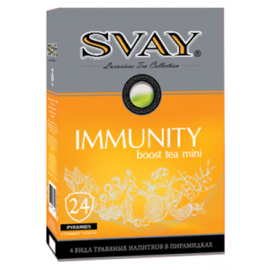 Svay IMMUNITY boost tea MINI (4 вида), 24 пир