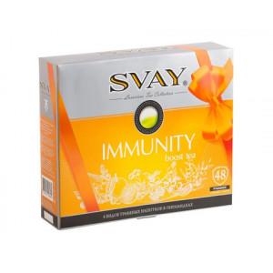 SVAY IMMUNITY boost tea, травяные напитки в пирамидках, 48 шт (8 видов)