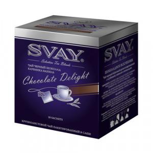 Svay Chocolate Delight черный с клубникой, ванилью и шоколадом чай