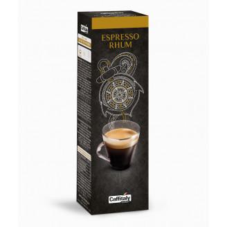 Капсулы Espresso Rhum. Эспрессо с ароматом рома. Рекомендуемый обьем 35-80мл. Интенсивность вкуса 5/10. В одной упаковке 10капсул по 8г. ИТАЛИЯ